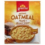 Granvita Oatmeal, Instant, Maple & Brown Sugar