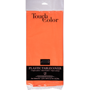 Touch of Color Tablecover, Plastic, Sunkissed Orange