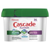 Cascade Platinum Actionpacs Dishwasher Detergent, Fresh Scent