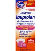 Kroger Ibuprofen, Children's, 100 mg Per 5 ml (Teaspoonful), Oral Suspension, Bubble Gum Flavor