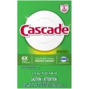 Cascade Powder Dishwasher Detergent, Lemon Scent