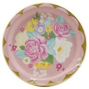 Party Creations Plates, Floral Tea Party 339796