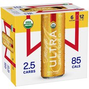 Michelob Ultra Pure Gold Organic Light Lager Beer Cans