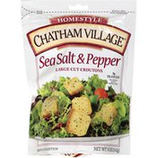 Chatham Village Sea Salt & Pepper Large Cut Baked Croutons