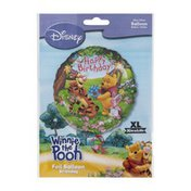"Anagram Foil Balloon 18"" Disney Winnie the Pooh Happy Birthday"