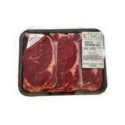 Kings USDA CHOICE BONELESS THIN CUT RIB EYE CHEESE STEAK -BEEF RIB-