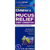 CareOne Children's Mucus Relief Chest Congestions Grape
