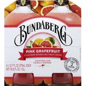 Bundaberg Brewed Drinks Fruit Drink, Sparkling, Pink Grapefruit Flavored