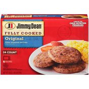 Jimmy Dean Fully Cooked Original Pork Sausage Patties, 24 Count