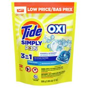 Tide Simply Pods +Oxi Liquid Laundry Detergent Pacs, Refreshing Breeze