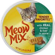 Meow Mix Cat Food, with Real Chicken & Liver in Sauce