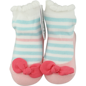 Mud Pie Bow Socks, Blue Stripe