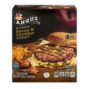 SB Angus Beef Patties Bacon & Cheddar - 3 CT