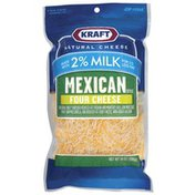 Kraft Mexican Style Four Cheese Made W/2% Milk Shredded Cheese