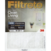 Filtrete Air Cleaning Filter, Electrostatic, Basic Dust, 16 x 20 x 1