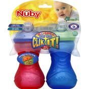 Nûby Cup, Easy Grip, Clik It, 10 oz, Step 2, 6m+