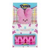 Peeps & Co Marshmallow Bunnies & Peeps Plush Bunny