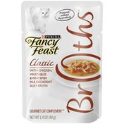Fancy Feast Broth Wet Cat Food Complement Broths Classic With Chicken