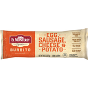 El Monterey Burrito, Egg, Sausage, Cheese & Potato