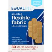 Equaline Adhesive Bandages, Flexible Fabric, Assorted Sizes