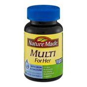 Nature Made Multi for Her Dietary Supplement Liquid Softgels - 60 CT