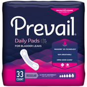 Prevail Incontinence Bladder Control Pads for Women, Ultimate Absorbency, Regular Length