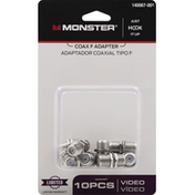 Monster Coax F Adapter, Video