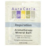 Aura Cacia Aromatherapy Mineral Bath, Inspiration Evergreen and Lemon Aroma