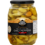 First Street Chili Peppers, Premium, Yellow Cascabel, Hot