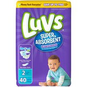Luvs Super Absorbent Leakguards Newborn Diapers Size 2 40 count Diapers