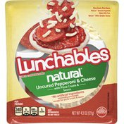 Lunchables Uncured Pepperoni & Cheese Meal Kit with Pizza Crusts & Sauce
