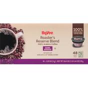 Hy-Vee Coffee, Dark, Roaster's Reserve Blend, Single Serve Pods