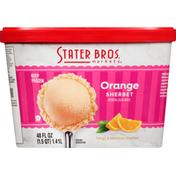 Stater Bros. Markets Sherbet, Orange