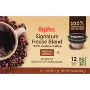 Hy-Vee Coffee, 100% Arabica, Medium, Signature House Blend, Pods