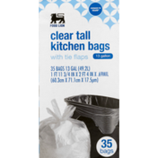 Food Lion Kitchen Bags, Clear Tall, With Tie Flaps