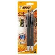 BiC Ball Pens, Retractable, Medium Point 1.0, Black