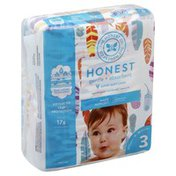 The Honest Company Diapers, Size 3 (16-28 Pounds), Painted Feathers