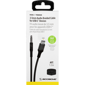 Scosche Braided Cable, USB-C, 4 Feet
