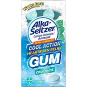 Alka-Seltzer Heartburn Relief, Cool Mint, Extra Strength, Gum