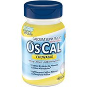 Oscal with Vitamin D3 Chewable Tablets Calcium Supplement