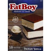 FatBoy Ice Cream Sandwiches, Premium Vanilla