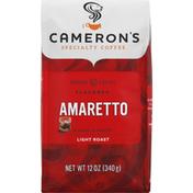 Camerons Coffee, Ground, Light Roast, Amaretto