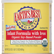 Earth's Best Infant Formula, with Iron, Organic Soy-Based Powder, for Baby's First 12 Months