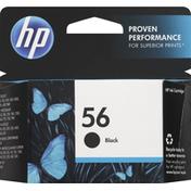 HP Ink Cartridge, Black, 56