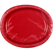 First Street Plates, Oval, Classic Red