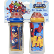 Marvel Sippy Cups, Insulated, Hero, 9 Ounce