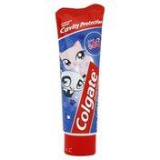 Colgate Toothpaste, Fluoride, Littlest Pet Shop, Mild Bubble Fruit Flavor