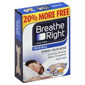 Breathe Right Nasal Strips, Original, Large