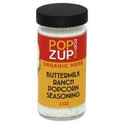 Pop Zup Popcorn Seasoning, Buttermilk Ranch, Popper