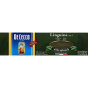 De Cecco Linguine, No. 7, with Spinach